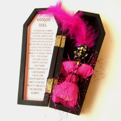 Voodoo Doll in Coffin