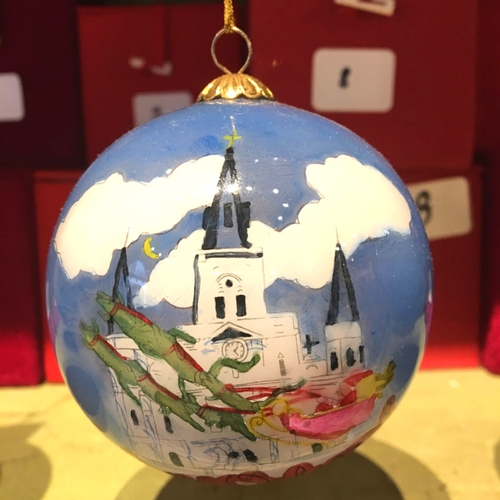 New Orleans Christmas Ornaments.Glass Ball Ornament